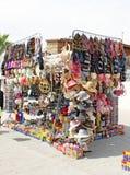 Gata som försäljer i Mexico Arkivfoto