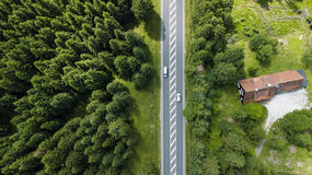 Gata som korsar Harzen Royaltyfri Fotografi
