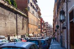 Gata via Francesco Crispi i Rome Royaltyfria Foton