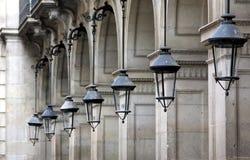 Gataarkitektur i Barcelona Royaltyfri Foto