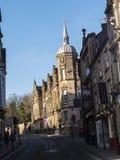 Gataarkitektur i Lancaster England arkivbilder