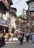 Gatabasar från Srinagar - Kashmir, Indien Arkivbild