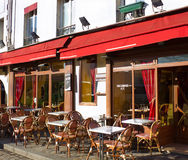 Gatacafe i Paris Royaltyfri Fotografi