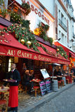 Gatacafe i Paris Royaltyfria Bilder