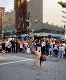 Gatadansare på Union Square i Manhattan Royaltyfri Bild