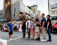 Gatadansare på Union Square i Manhattan Royaltyfri Fotografi