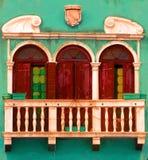 Gatafönster, Venedig, Italien Royaltyfri Fotografi