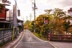 Gataföreningspunkt i Japan landssida Arkivfoto