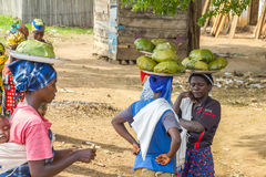 gataförsäljning i Burundi royaltyfria bilder