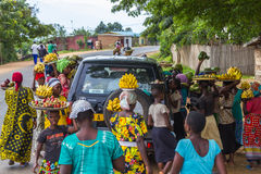 gataförsäljning i Burundi arkivbild