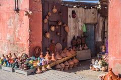 Gatafotoform Marrakesh, Marocko arkivfoton