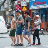 Gatagatuförsäljare, Saigon Royaltyfri Foto
