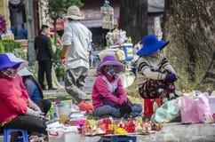 Gatagatuförsäljare Vietnam Arkivfoto