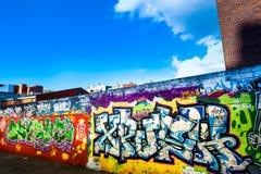 Gatagraffity i Dublin Arkivbild