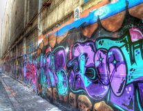 Gatagrafitti i Melbourne Arkivbild