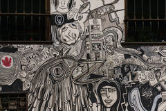 Gatagrafitti på Bogotà ¡, royaltyfri fotografi