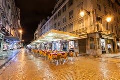 Gatakafé, Lissabon Royaltyfri Fotografi