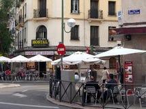 Gatakaféer, Madrid Royaltyfri Fotografi