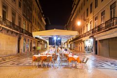 Gatakafé, Lissabon Arkivbild