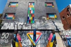 Gatakonst av en okänd konstnär i Collingwood, Melbourne Royaltyfri Foto