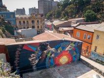 Gatakonst av Valparaiso Arkivbild