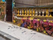 Gatakonst av Valparaiso Arkivfoto