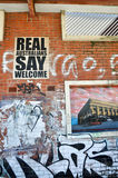 Gatakonst: Fremantle västra Australien Arkivbilder