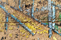 Gatakonst - gammal grafitti på väggen Royaltyfri Fotografi