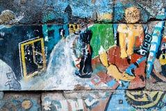 Gatakonst - gammal grafitti på väggen Royaltyfria Foton