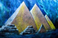 Gatakonst - grafitti på väggen vektor illustrationer