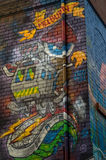 Gatakonst i den Rutledge gränden i Melbourne, Australien Royaltyfri Bild