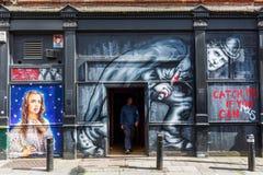 Gatakonst i London, UK Fotografering för Bildbyråer