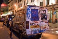 Gatakonst i Paris Fotografering för Bildbyråer