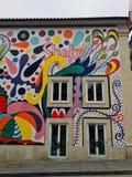Gatakonst i Porto royaltyfria foton