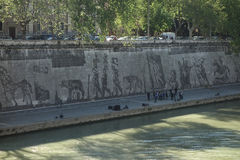 Gatakonst längs Tiber Arkivfoto
