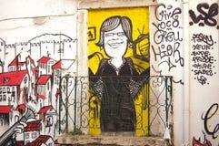Gatakonst, Lissabon royaltyfri fotografi