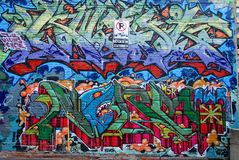 Gatakonst Montreal Royaltyfria Foton