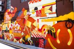 Gatakonst på Haji Lane i Singapore Arkivbilder