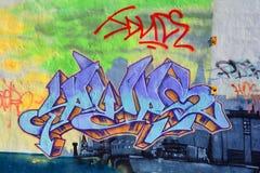 GatakonstMontreal etikett Fotografering för Bildbyråer