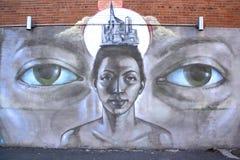 GatakonstMontreal kvinna Arkivfoto