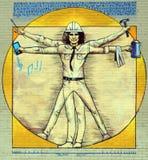 GatakonstMontreal modern Vitruvian man arkivfoto