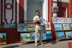 Gatakonstnär arkivbilder