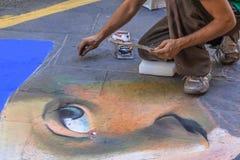 Gatakonstnär fotografering för bildbyråer
