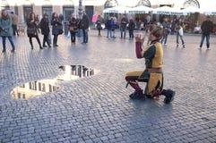 Gatakonstnärer i Rome Arkivfoto