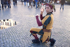 Gatakonstnärer i Rome Royaltyfri Foto