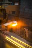 Gatalampa och belysning Royaltyfri Bild