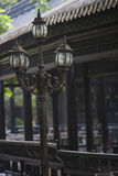 Gatalampan i klassisk kinesträdgård Fotografering för Bildbyråer