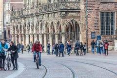 Gatalandskap i Bremen, Tyskland Arkivfoton