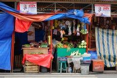 Gataliv i Manila, Filippinerna fotografering för bildbyråer