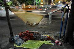 Gatalivstid av Kolkata Royaltyfria Bilder